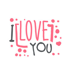 i love you logo template hand drawn vector image