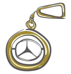 Keychain mercedes or color vector