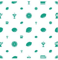 lemon icons pattern seamless white background vector image