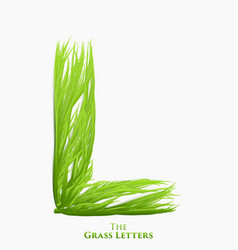 letter l of juicy grass alphabet green l vector image