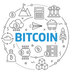 lines bitcoin vector image
