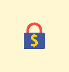 lock icon flat element of vector image
