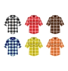 Lumberjack check shirt lumberjack old fashion vector image