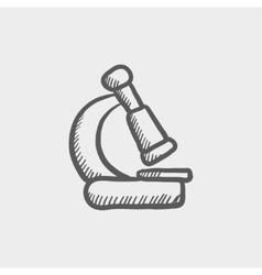 Microscope sketch icon vector