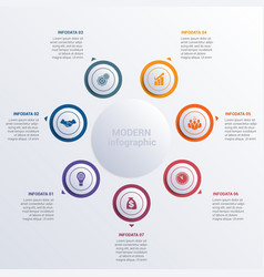 Modern infographic diagram business vector