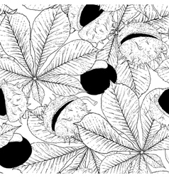 Monochrome Chestnut Seamless Background vector