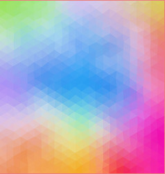multicolored pastel polygonal consist of triangles vector image