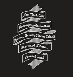 New york city t-shirt typography nyc fashi vector