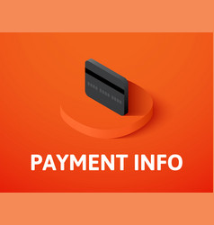 payment info isometric icon isolated on color vector image