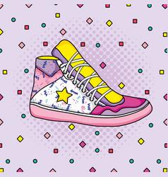 Pop art 1990s cartoons vector