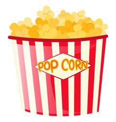 Popcorn in paper bucket vector