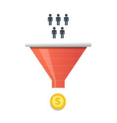 purchase funnel and lead generation in digital vector image