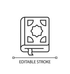 Quran linear icon vector
