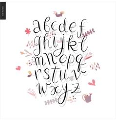 Script alphabet 3 vector
