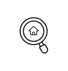 search real estate icon vector image