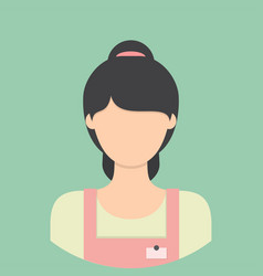 shopkeeper characte icon great of character use vector image