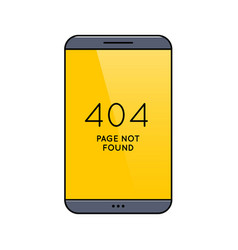 smartphone with 404 error page on screen vector image