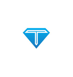 T initial diamond shape company logo vector