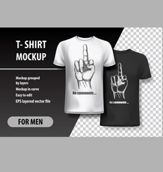 T-shirt template fully editable with gesture vector