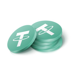 Tether cryptocurrency tokens vector