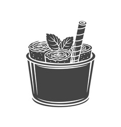 thai ice cream roll vector image