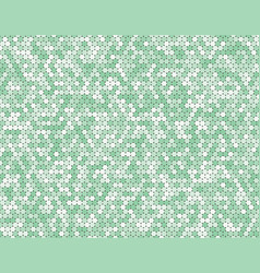 the green circle dot bubble mosaic tiles back vector image