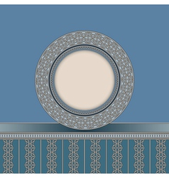 Vintage plate background vector