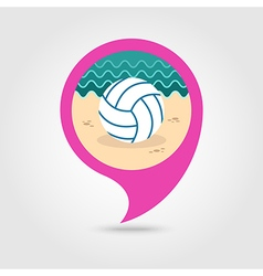 Volleyball pin map icon Summer Vacation vector