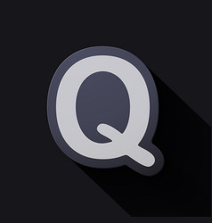 Volume icons alphabet q vector