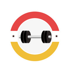 weight lifting gym device icon vector image