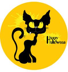 wild cat halloween vector image