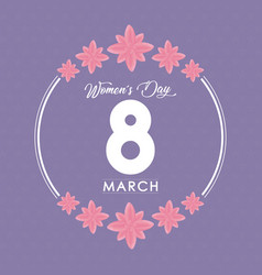 Womens day design vector