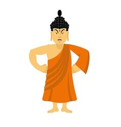 Angry Buddha furious Indian god wrathful Supreme vector image