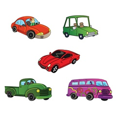 cars trucks collection vector image vector image