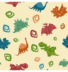 Dino Baby pattern vector image vector image