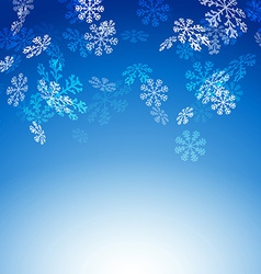 Falling snow flakes new christmas card vector