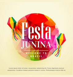 festa junina latin american holiday background vector image