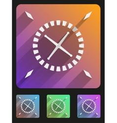 Flat icon set roulette casino vector image