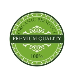Green colored premium quality label vector image vector image