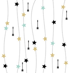 nordic style with arrows and stars pattern vector image vector image