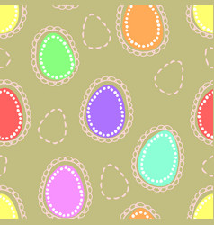 Seamless easter pattern with colored and dushed vector