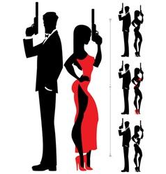 Spy Couple 3 vector image