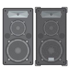 concert speakers vector image