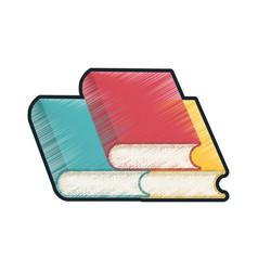 drawing books school utensil vector image