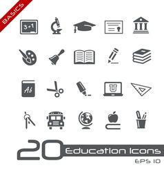 Education Icons Basics vector image vector image