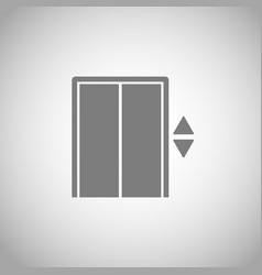 elevator icon lift symbol vector image vector image