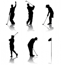 golf player vector image vector image