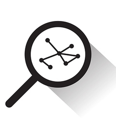 magnifying glass with Molecule icon vector image vector image