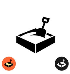 Sandbox icon Black sign with color and inverted vector image vector image