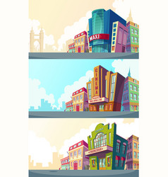 Set cartoon of an urban vector